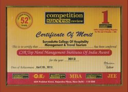 10 TOP HOTEL MANAGEMENT AWARD - CSR 2013