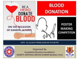 Blood Donation camp poster 2019