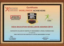India 9. Education Excellemce Award 2014