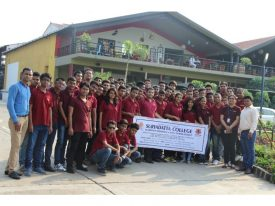 SCHMTT students and faculty at Sula Winery nashik