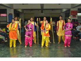 cultural Traditional Gidda Dance by the students